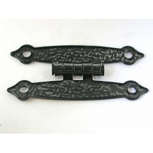 "2-9/16"" Flush Black Hinge - 10 pcs. - Includes Screws"