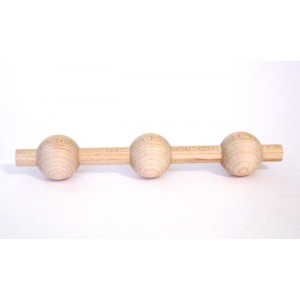 S-0575: 25 Pcs. Birch 3 Ball Gingerbread Spindle