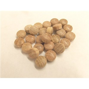 "RH0500-O: 250 Pcs. 1/2"" Round Head Oak Plugs"