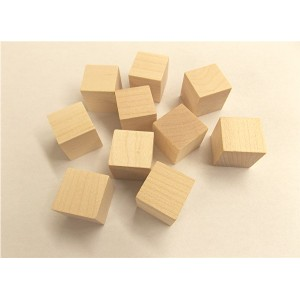 "C-1250 1-1/4"" x 1-1/4"" Hardwood Cube (Birch/Maple) - 100 Pcs."