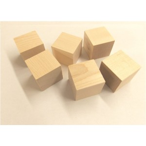 "C-1500 1-1/2"" Hardwood (Birch/Maple) Cubes - 50 Pcs."