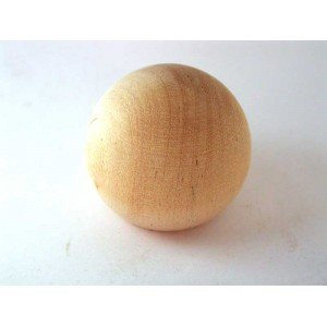 "1-1/2"" White Birch Ball Knobs"