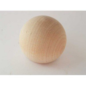 "3"" White Birch Ball Knob"