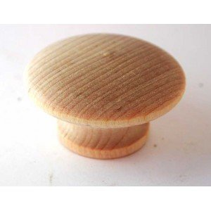 "1-1/4"" White Birch Mushroom Drawer Pulls"