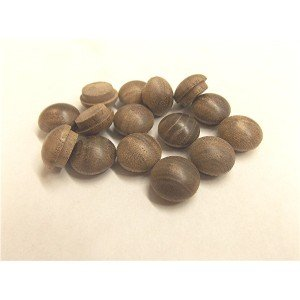 "1/2"" Long Shank Walnut Mushroom Buttons"