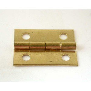 "1"" x 3/4""Brass Plated Box Hinge"