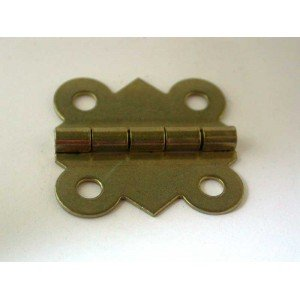 "Brass Plated Ornamental Butterfly Hinges - 1-1/4"" x 1-1/4"""