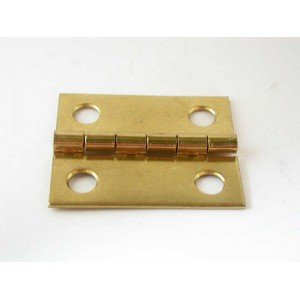 "1-1/2"" x 1-1/4"" Brass Plated Box Hinges"