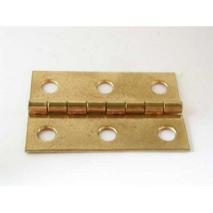 "2"" x 1-3/8"" Brass Plated Box Hinges"