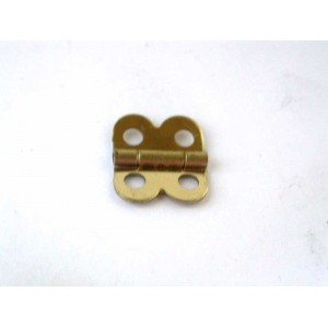 "Small Brass Plated Butterfly Hinges - 1/2"" x 1/2"""
