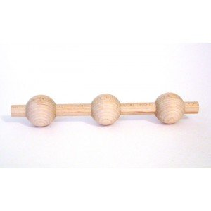 Birch 3-Ball Gingerbread Spindle (Ball & Bar Spindle)