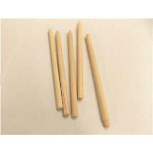 "15/64"" x 5"" Birch Semi Pointed Candy Apple Stick"